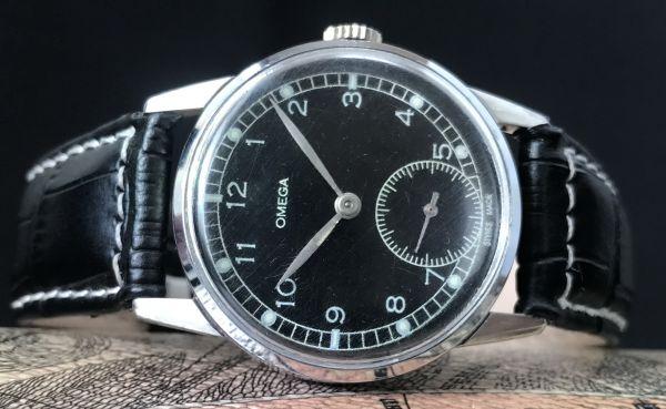 極上品【オメガ☆ミリタリー】アンティーク ヴィンテージ Cal.265 手巻き メンズ腕時計_画像3