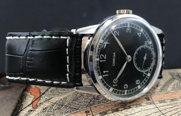 極上品【オメガ☆ミリタリー】アンティーク ヴィンテージ Cal.265 手巻き メンズ腕時計_画像5