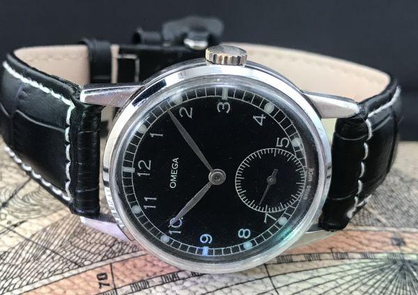 極上品【オメガ☆ミリタリー】アンティーク ヴィンテージ Cal.265 手巻き メンズ腕時計_画像6