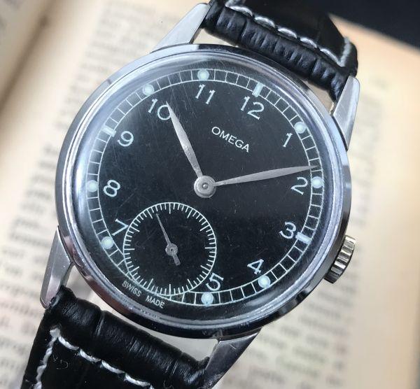 極上品【オメガ☆ミリタリー】アンティーク ヴィンテージ Cal.265 手巻き メンズ腕時計_画像4