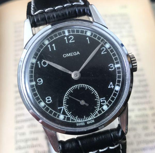 極上品【オメガ☆ミリタリー】アンティーク ヴィンテージ Cal.265 手巻き メンズ腕時計_画像2