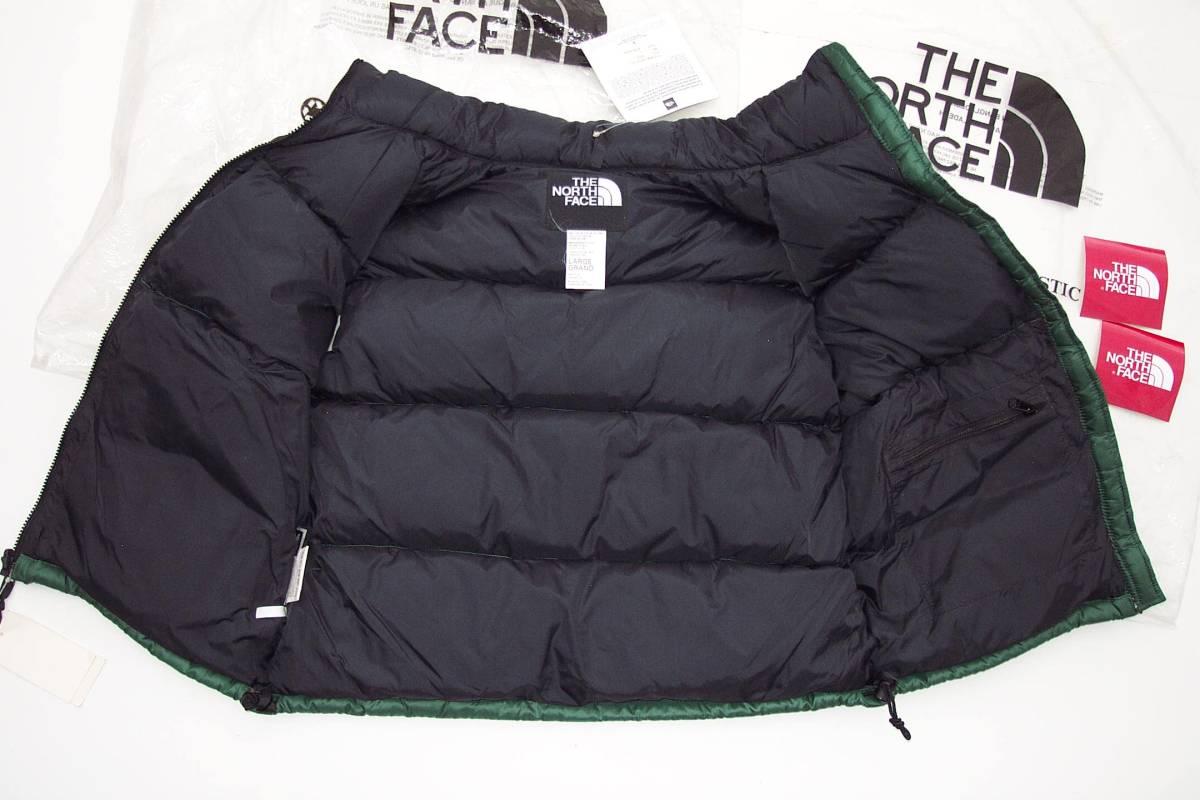90年代デッド新品未使用国内正規品THE NORTH FACEザ ノースフェイス ND-1082 ヌプシ NUPTSEダウンベストジャケットLグリーン緑タグ付き_画像5