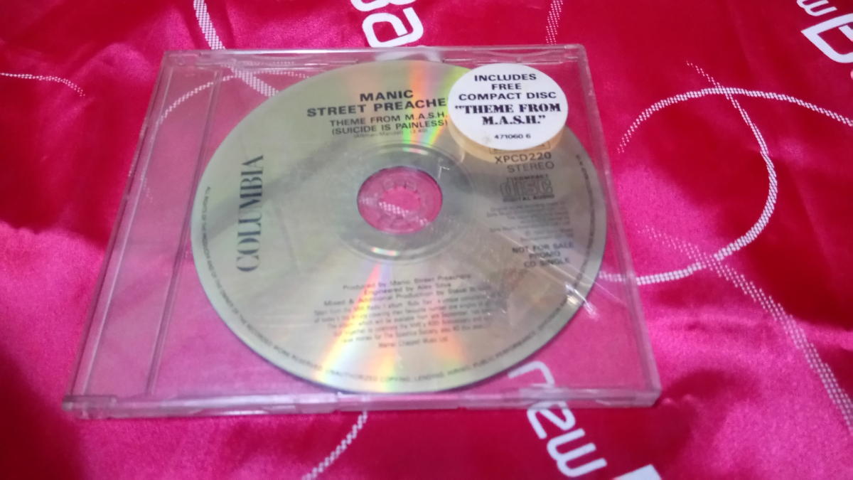 激レア promo CD MANIC STREET PREACHERS THEME FROM M.A.S.H.(SUICIDE IS PAINLESS) 1992年 UK盤