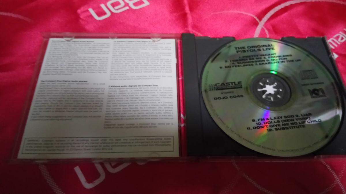 The Original Sex Pistols Live DOJO RECORDS 1985年 DOJO CD45 Dave Goodman