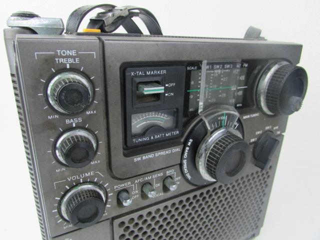 ジャンク・希少・SONY・BCL・ラジオ・スカイセンサー・黒革ケース付・ICF・5900・作動未確認_画像5