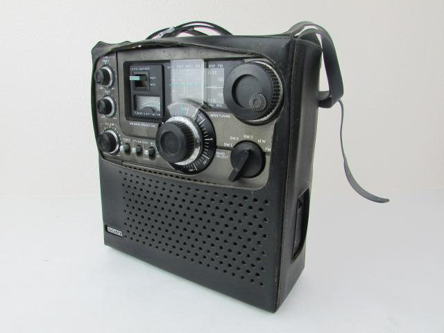 ジャンク・希少・SONY・BCL・ラジオ・スカイセンサー・黒革ケース付・ICF・5900・作動未確認_画像2