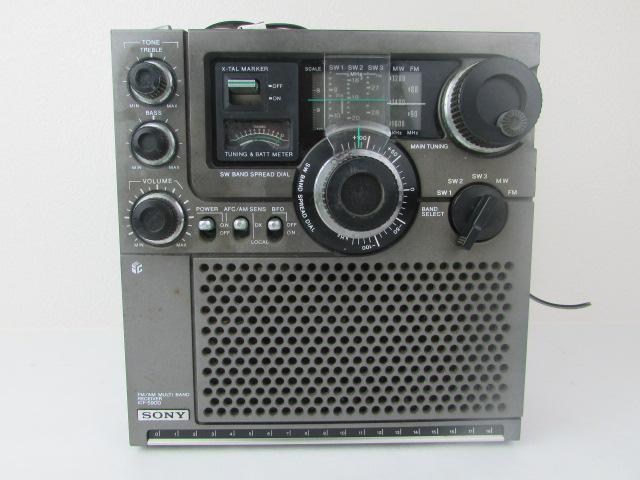 ジャンク・希少・SONY・BCL・ラジオ・スカイセンサー・黒革ケース付・ICF・5900・作動未確認_画像4
