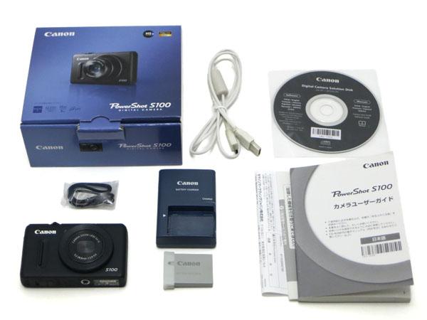 CANON PowerShot S100 キヤノン パワーショット S100 ブラック コンパクトデジタルカメラ