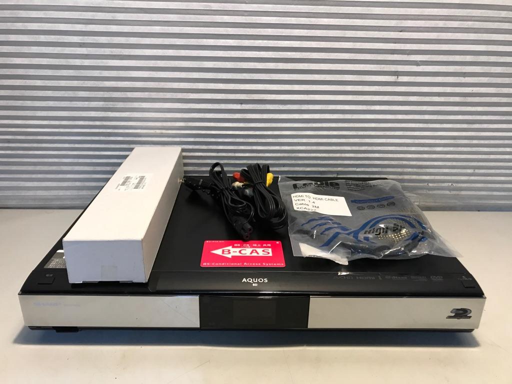 SHARP「BD-HDW55」500GB 地上/CS/BS ブルーレイレコーダー 【新品リモコン HDMI 完動美品!整備済み】