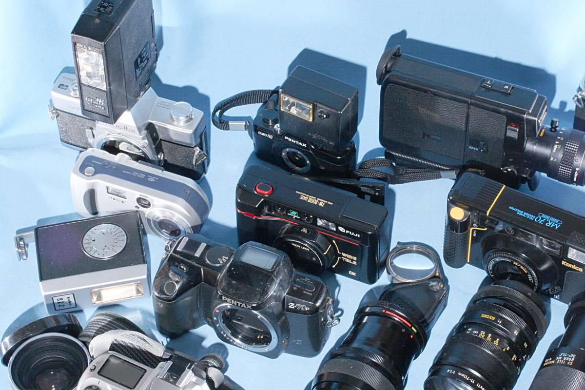 一眼レフカメラ デジタル カメラ 交換レンズ ストロボ 露出計 Minolta16 他 まとめて 多数 大量 セット 色々 ジャンク j_画像4