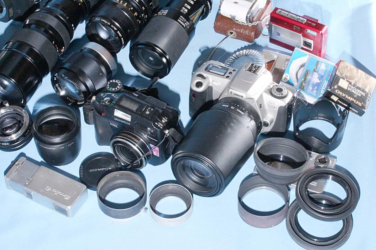 一眼レフカメラ デジタル カメラ 交換レンズ ストロボ 露出計 Minolta16 他 まとめて 多数 大量 セット 色々 ジャンク j_画像3