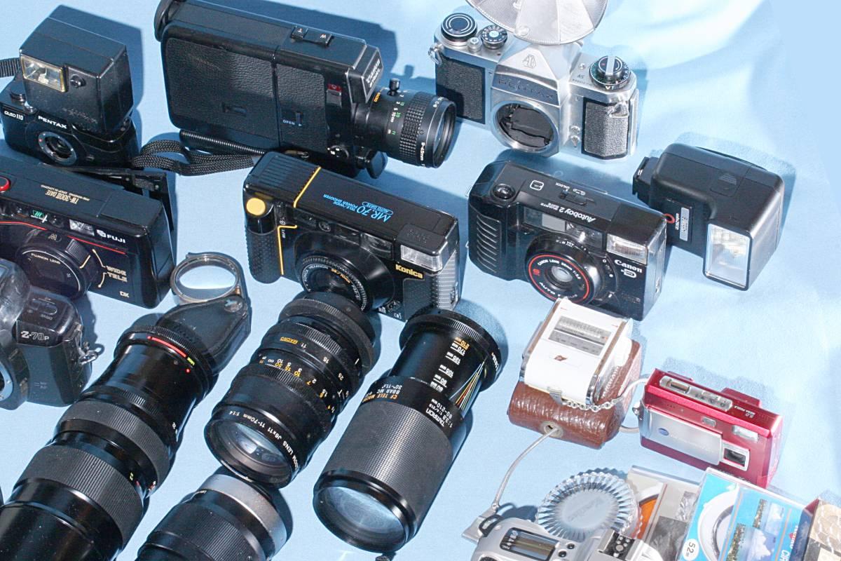 一眼レフカメラ デジタル カメラ 交換レンズ ストロボ 露出計 Minolta16 他 まとめて 多数 大量 セット 色々 ジャンク j_画像5
