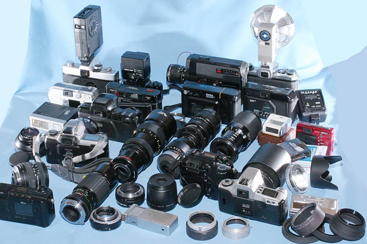 一眼レフカメラ デジタル カメラ 交換レンズ ストロボ 露出計 Minolta16 他 まとめて 多数 大量 セット 色々 ジャンク j_画像6