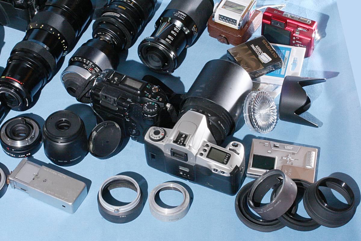 一眼レフカメラ デジタル カメラ 交換レンズ ストロボ 露出計 Minolta16 他 まとめて 多数 大量 セット 色々 ジャンク j_画像8