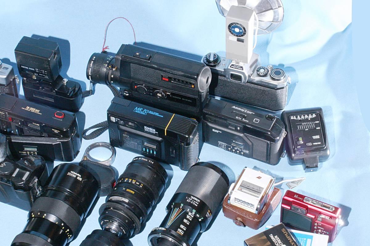 一眼レフカメラ デジタル カメラ 交換レンズ ストロボ 露出計 Minolta16 他 まとめて 多数 大量 セット 色々 ジャンク j_画像10