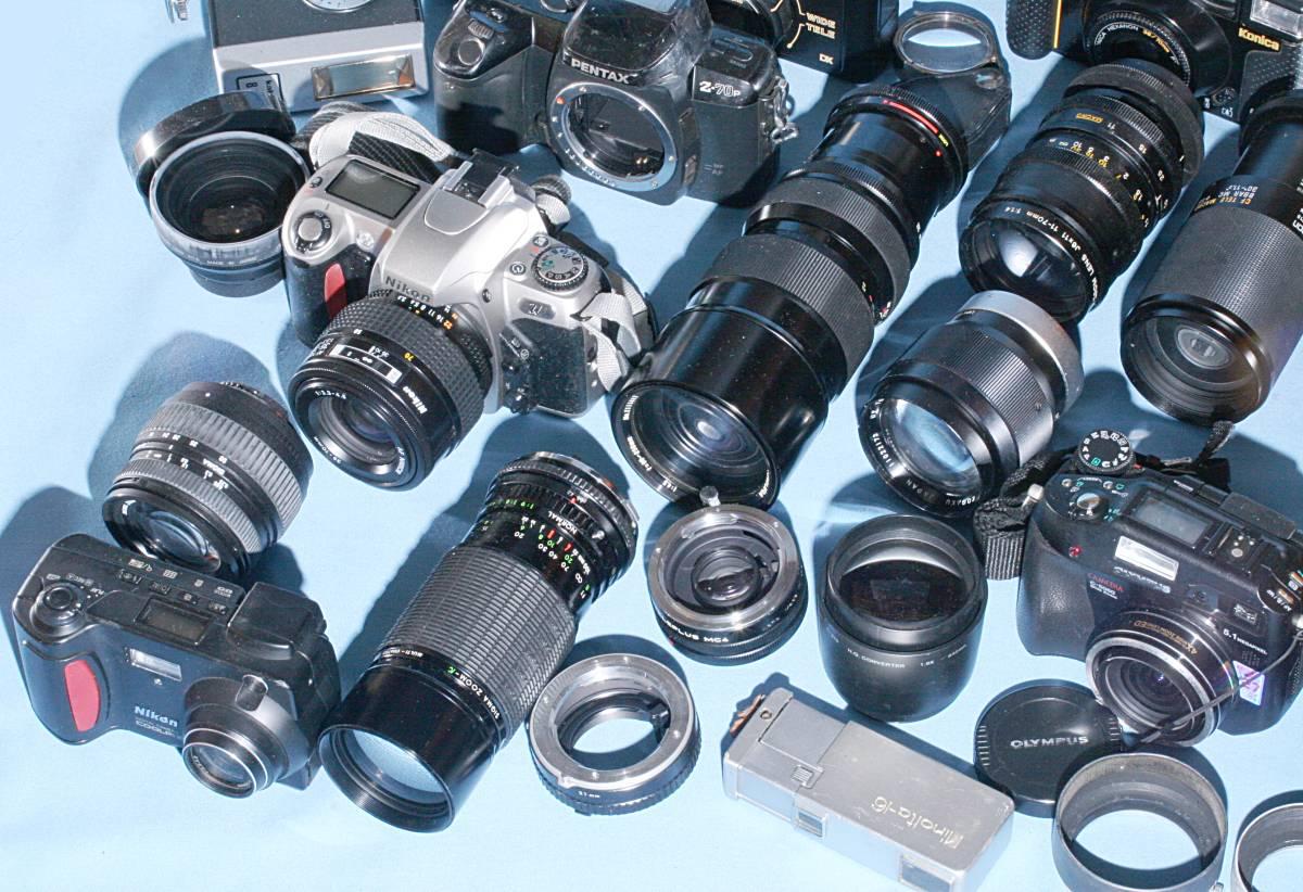 一眼レフカメラ デジタル カメラ 交換レンズ ストロボ 露出計 Minolta16 他 まとめて 多数 大量 セット 色々 ジャンク j_画像2