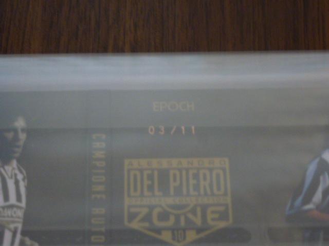 エポック【DEL PIERO ZONE】 デルピエロゾーン 11枚限定ブックレットサイン_画像3