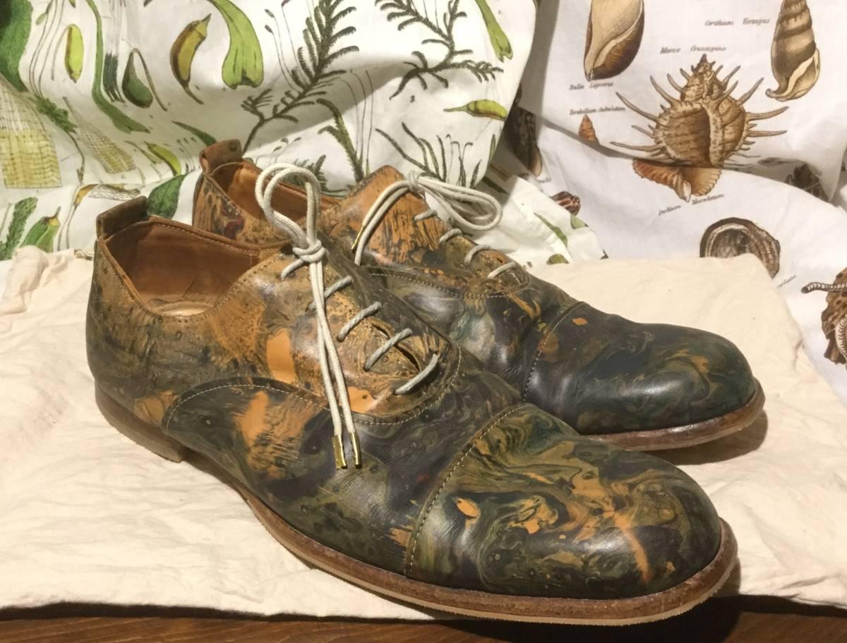 ポールハーデン ★ Paul Harnden Shoemakers ★ ph3 マーブル ダービーレザーシューズ UK8 guidi エムエークロス ブーツ a1923