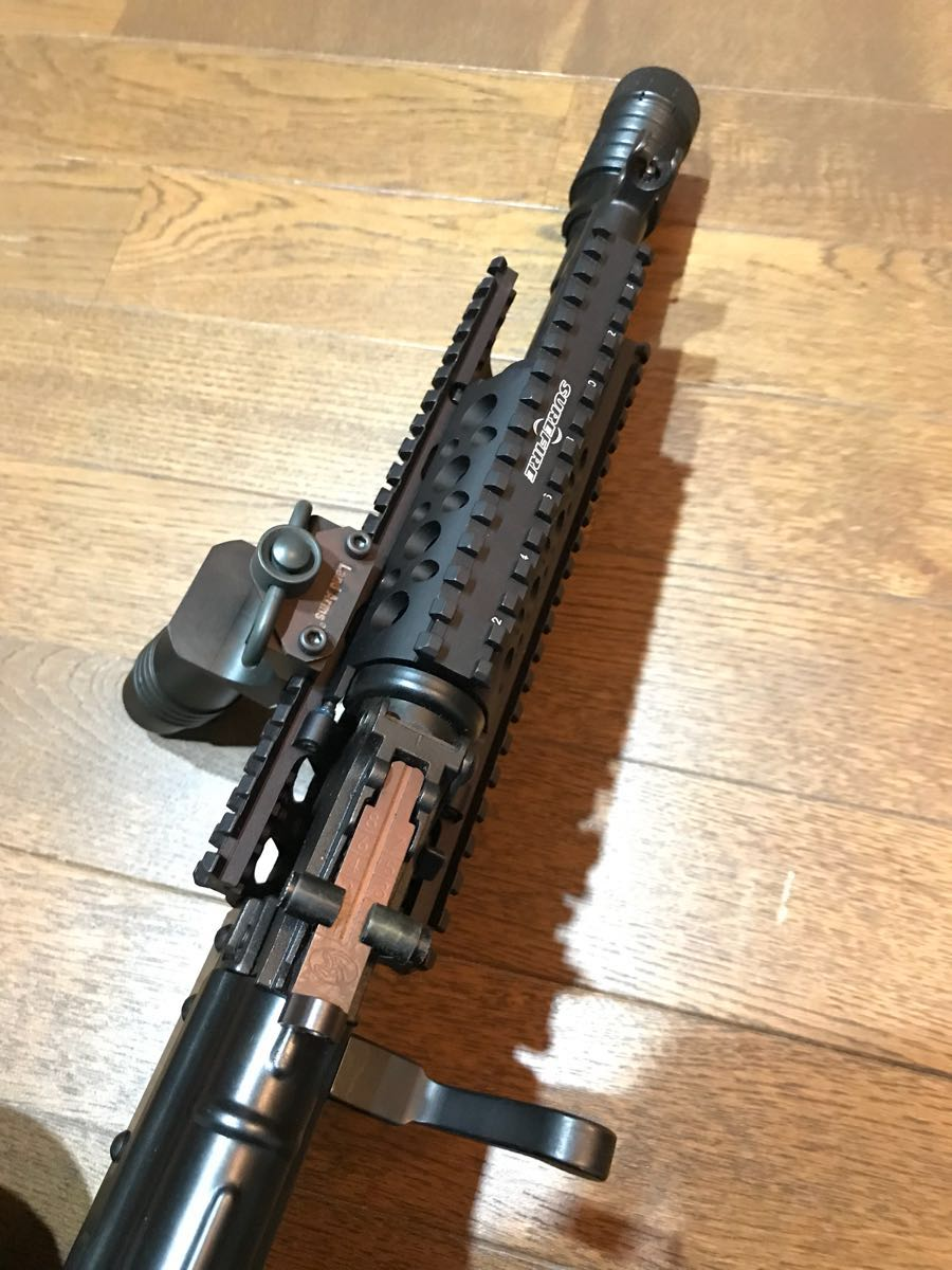 SOPMOD AK104 実物 SUREFIRE M83 & 実物 ストックカスタム電動ガン_画像7