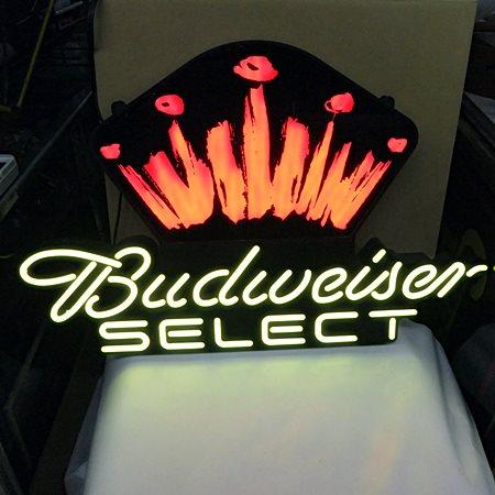 【アメリカ雑貨】 送料無料 LEDネオン Budweiser SELECT バドワイザー / ネオン_画像5