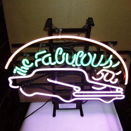【アメリカ雑貨】送料無料 ネオン The Fabulous 50s' / アメリカン クラシックカー / 看板_画像5