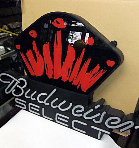 【アメリカ雑貨】 送料無料 LEDネオン Budweiser SELECT バドワイザー / ネオン_画像3