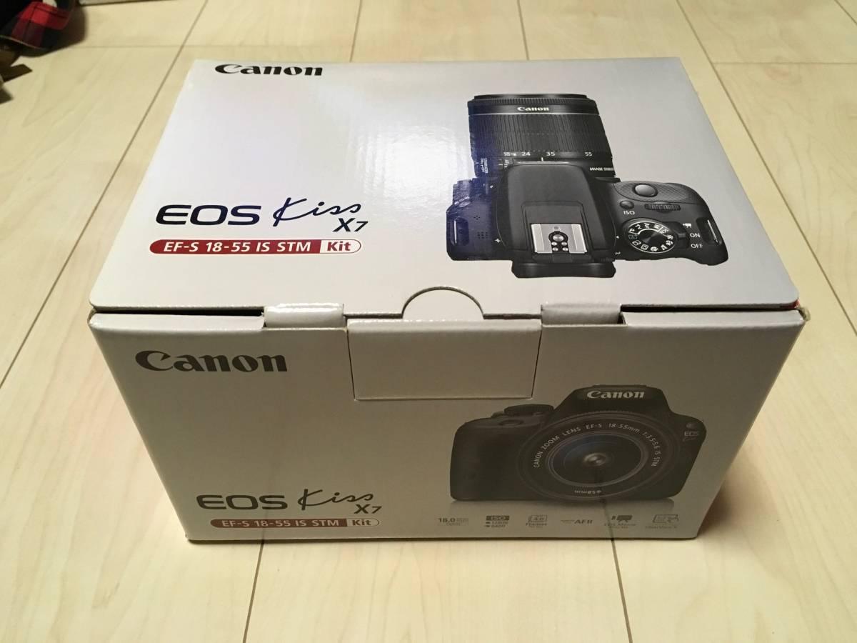 【ほぼ新品】CANON EOS KISS X7 EF-S18-55 IS STM レンズキット
