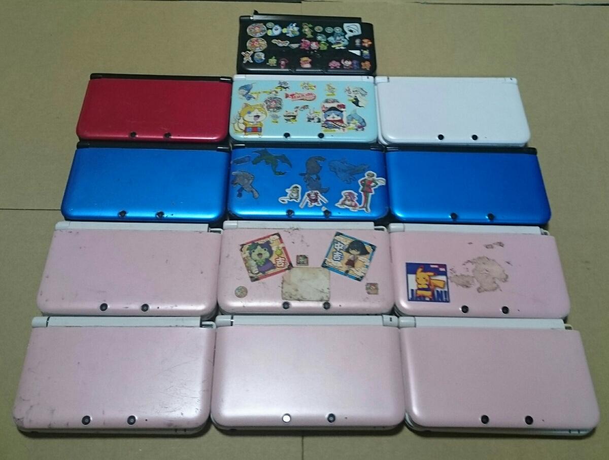 3DSLL本体13台セット中古品ジャンク品ヒンジ破損有り