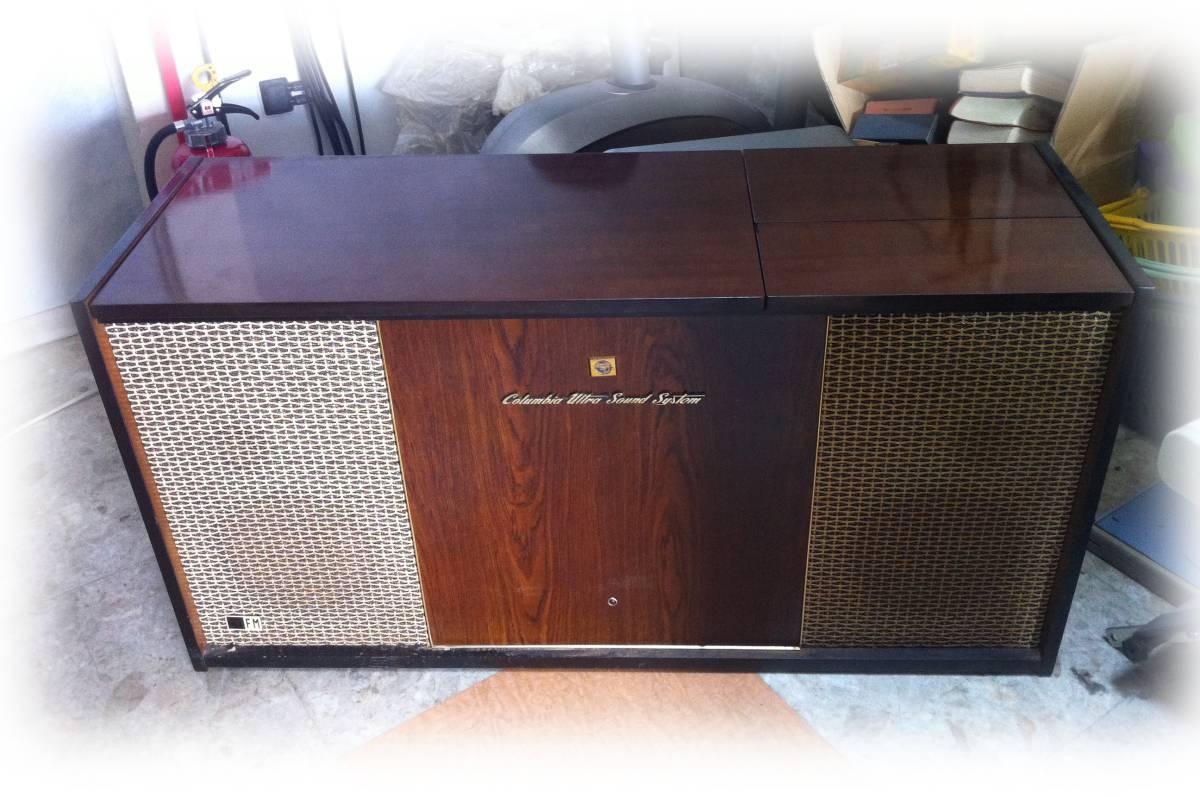 レトロ Columbia ULTRA SOUND SYSTEM MODEL SSA-745 ラジオ付きレコードプレーヤー
