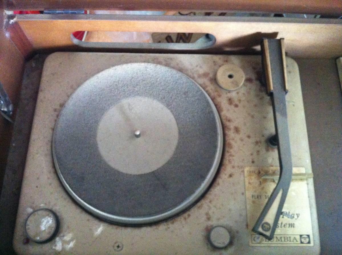 レトロ Columbia ULTRA SOUND SYSTEM MODEL SSA-745 ラジオ付きレコードプレーヤー_画像4