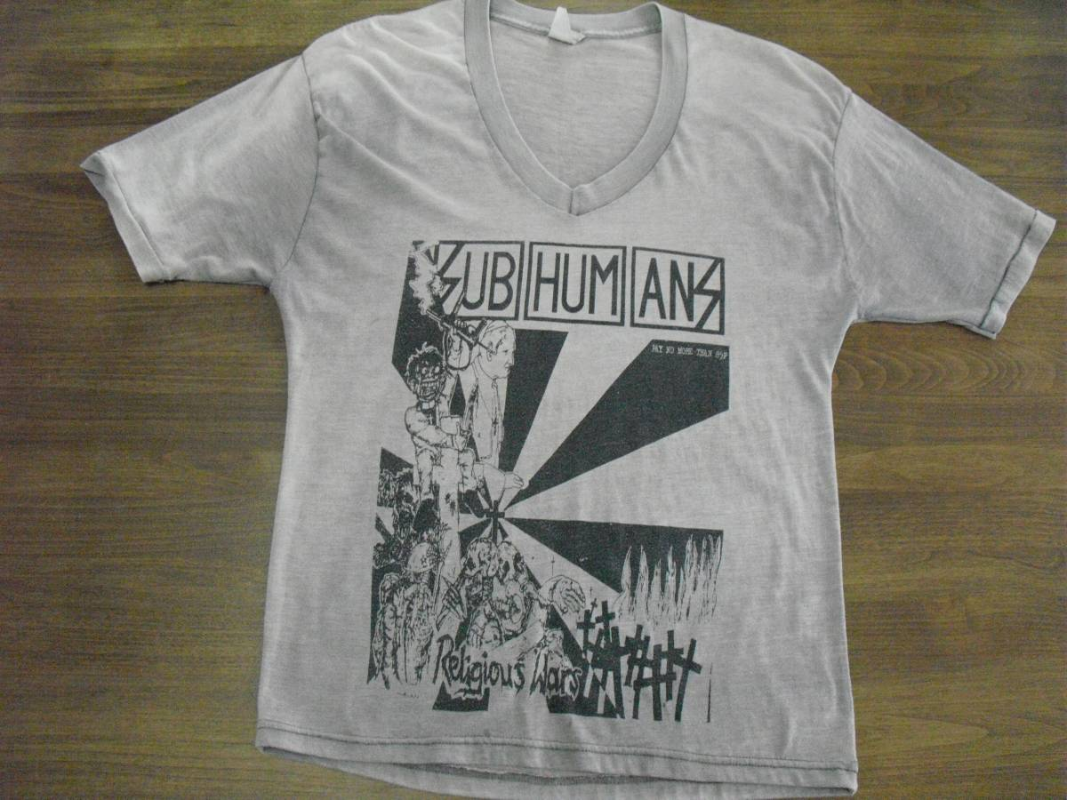 Subhumans Tシャツ (状態悪 ジャンク品) アメリカ製