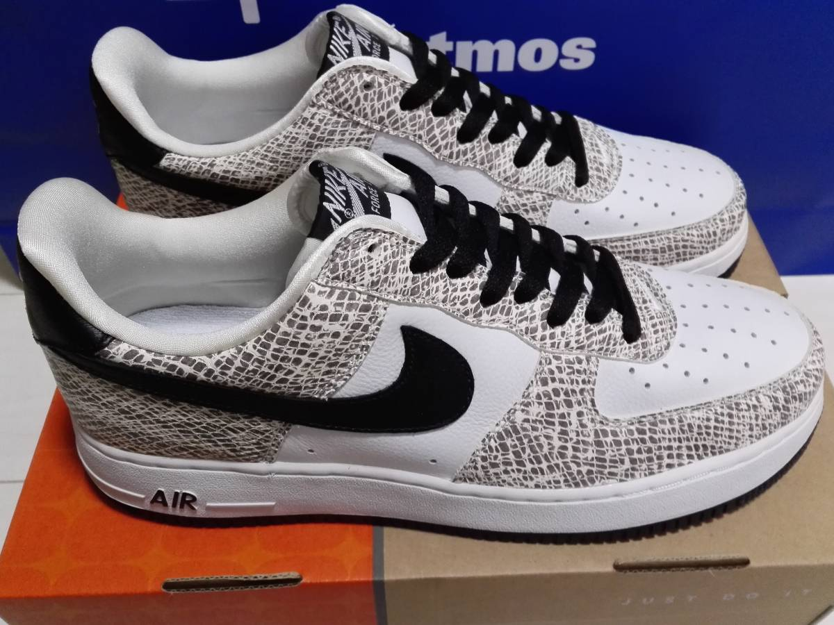 sports shoes 17481 ebe21 NIKE AIR FORCE 1 LOW SNAKE PACK 白蛇 WHITEBLACK-COCOA 28.0cm 新品未着用 デッドストック