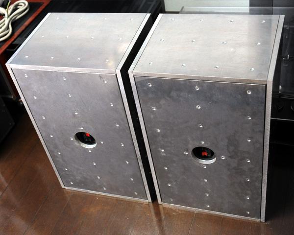 ■マニアックな重量級アルミボックス 自作2Weyスピーカーシステム■二個一組、完動品です_画像4