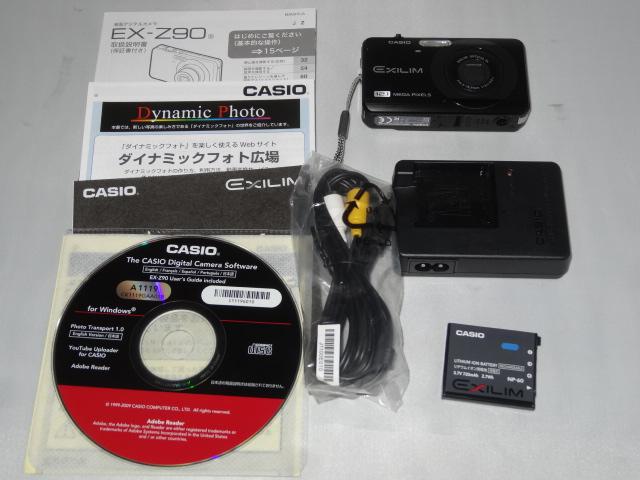 ★極美CASIO【カシオ デジタルカメラ EXILIM EX-Z90黒 】展示品並み