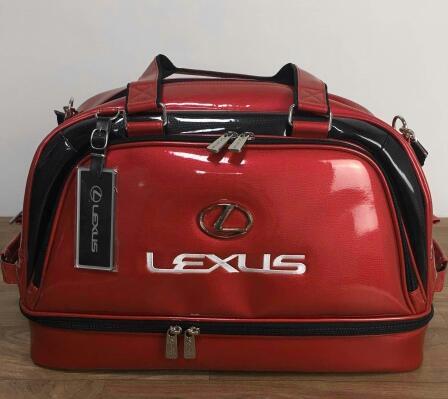LEXUS レクサスゴルフ ボストンバッグ 赤い