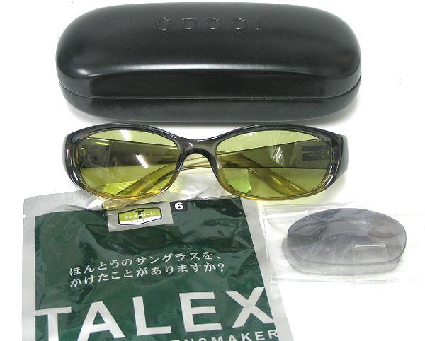 ◆918004◆中古超美品/ GUCCI グッチ イタリア製+TALEX タレックス イーズグリーン偏光サングラス スキー スノボー 釣り ドライブ