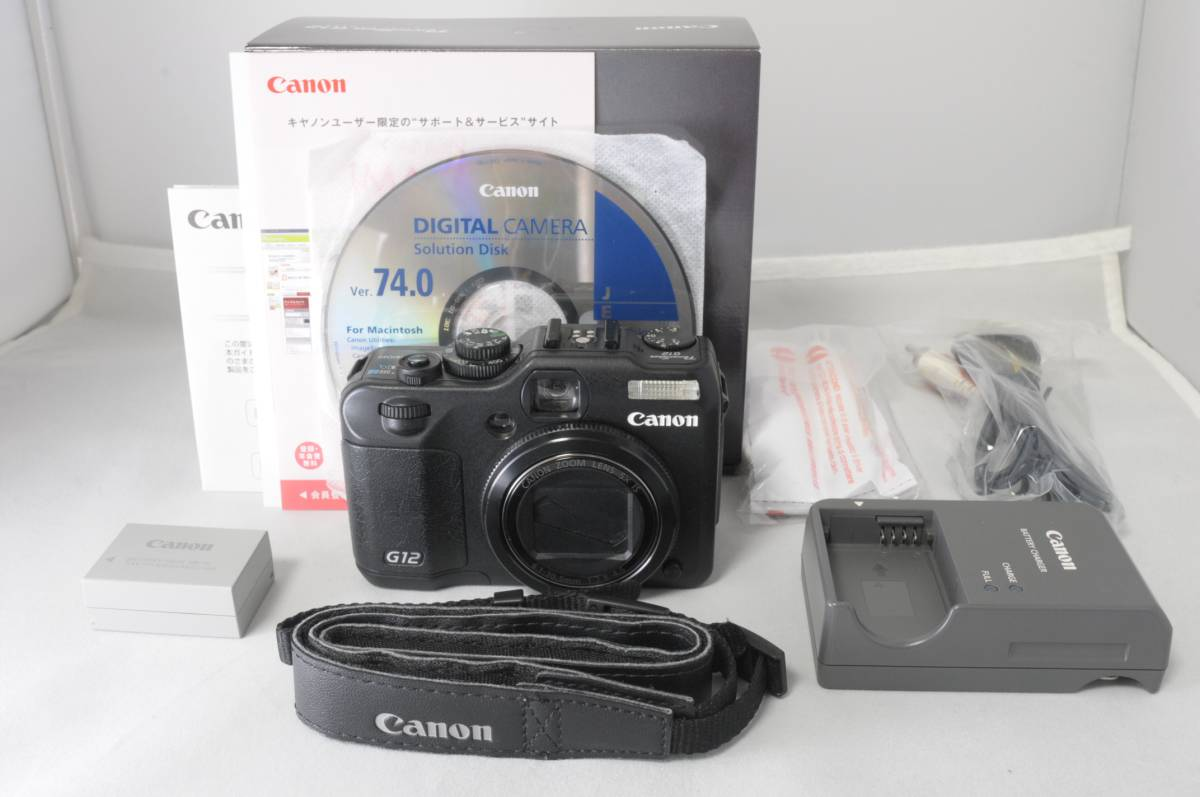 ★美品★CANON キャノン PowerShot G12 SDカード付き★M153162-1