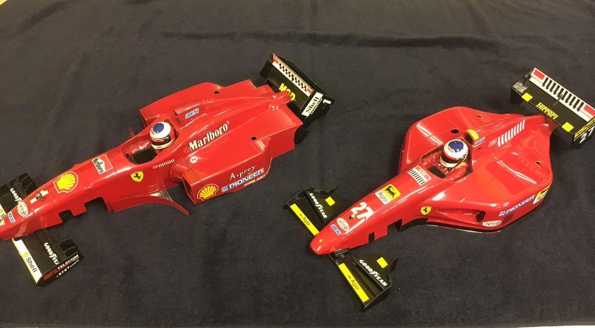 1/10 F1 フェラーリ ボディ 前後ウイングつき 412T1 ジャンク扱い