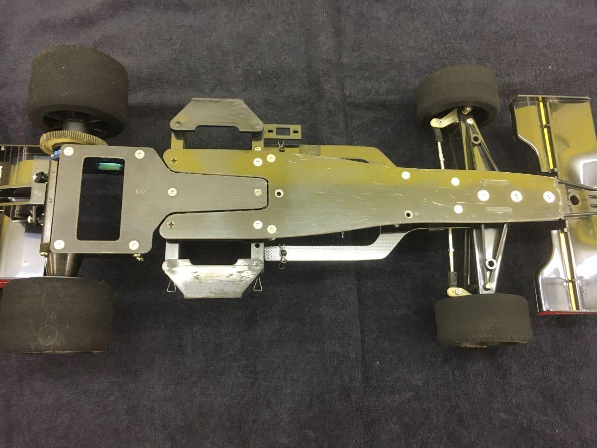 TAMIYA タミヤ インディーカー F103L ローラT94/00 HONDA 未塗装ボディつき(ステッカー欠品) ジャンク扱い_画像3