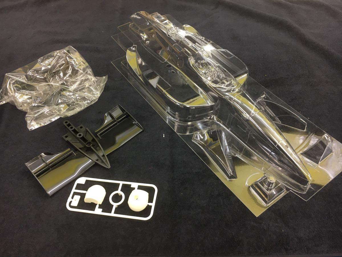TAMIYA タミヤ インディーカー F103L ローラT94/00 HONDA 未塗装ボディつき(ステッカー欠品) ジャンク扱い_画像4
