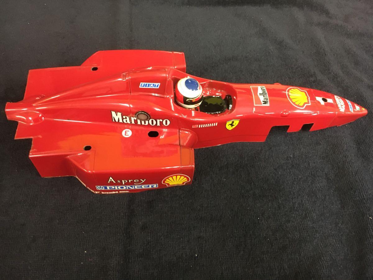 1/10 F1 フェラーリ ボディ 前後ウイングつき 412T1 ジャンク扱い_画像8