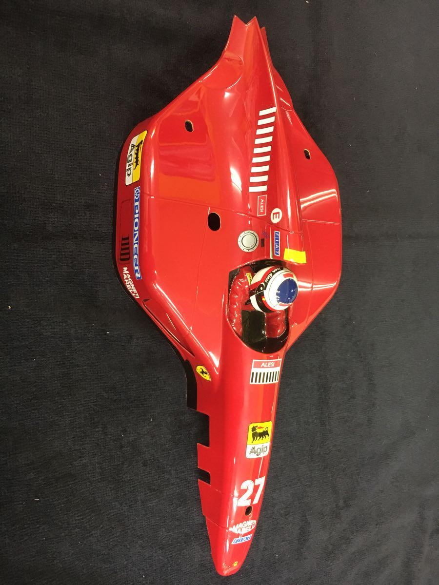1/10 F1 フェラーリ ボディ 前後ウイングつき 412T1 ジャンク扱い_画像2