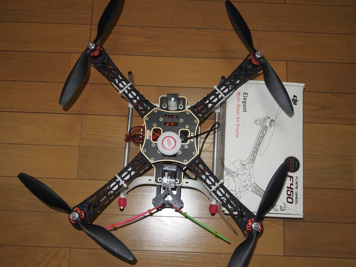 dji f450 Flame wheel NAZA GPS Compass 付 マルチヘリ ドローン ジャンク