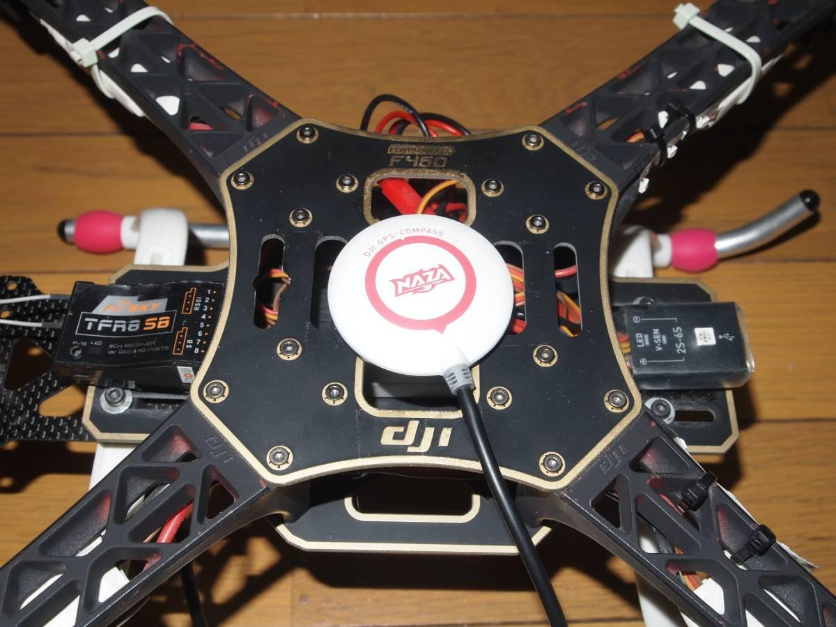 dji f450 Flame wheel NAZA GPS Compass 付 マルチヘリ ドローン ジャンク_画像4