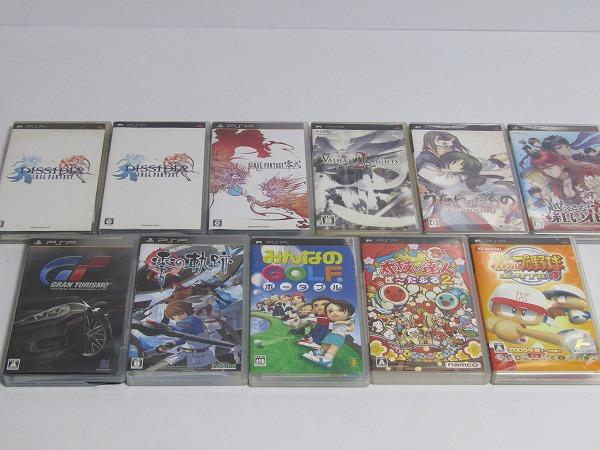 M11-2816[WWW] PSP ソフト 大量 まとめて 55点セット ケース/取説付き 【動作未確認/ジャンク扱い】1円~_画像4