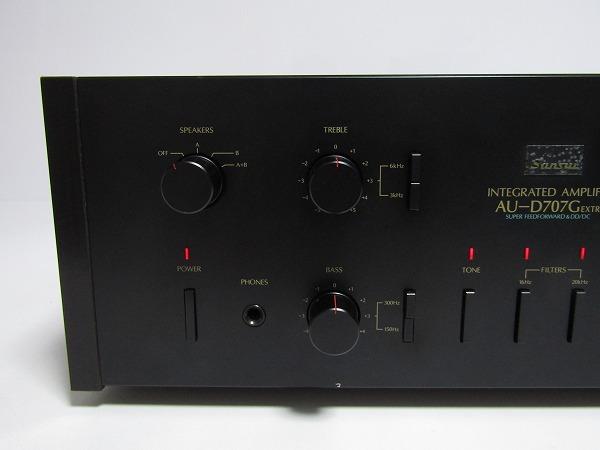 A30-2999[YMM] SANSUI サンスイ AU-D707G EXTRA プリメインアンプ【動作未確認/ジャンク扱い】1円~_画像2