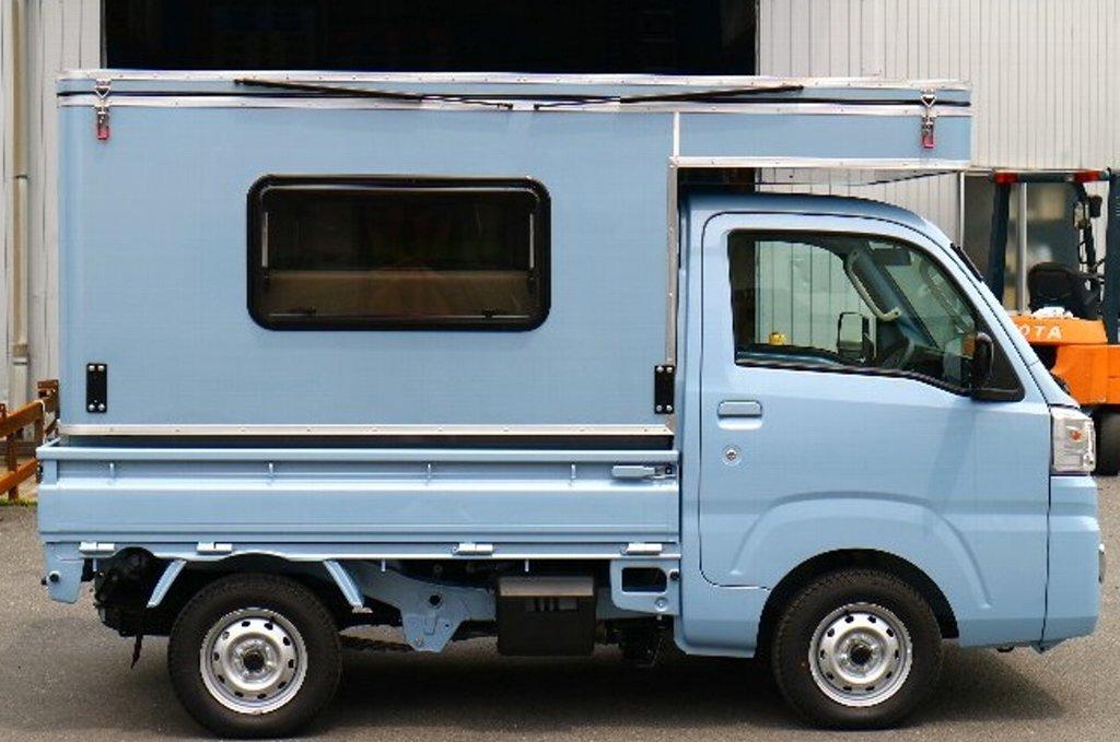 MINI MAX 軽トラック キャンパー ボックス 着脱可能 キャンピングカー キャンプ アウトドア 軽キャンパー_画像2