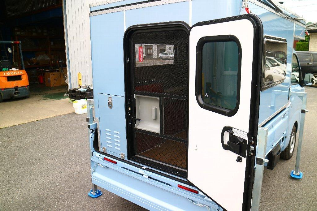 MINI MAX 軽トラック キャンパー ボックス 着脱可能 キャンピングカー キャンプ アウトドア 軽キャンパー_画像8