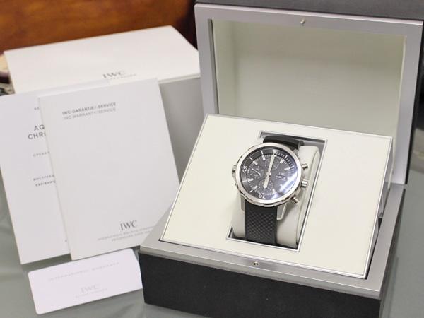 超美品 IWC 国内正規購入品 アクアタイマー オートマチック クロノグラフ メンズ クロノ 自動巻腕時計 保存箱 ギャランティ 取説付 本物