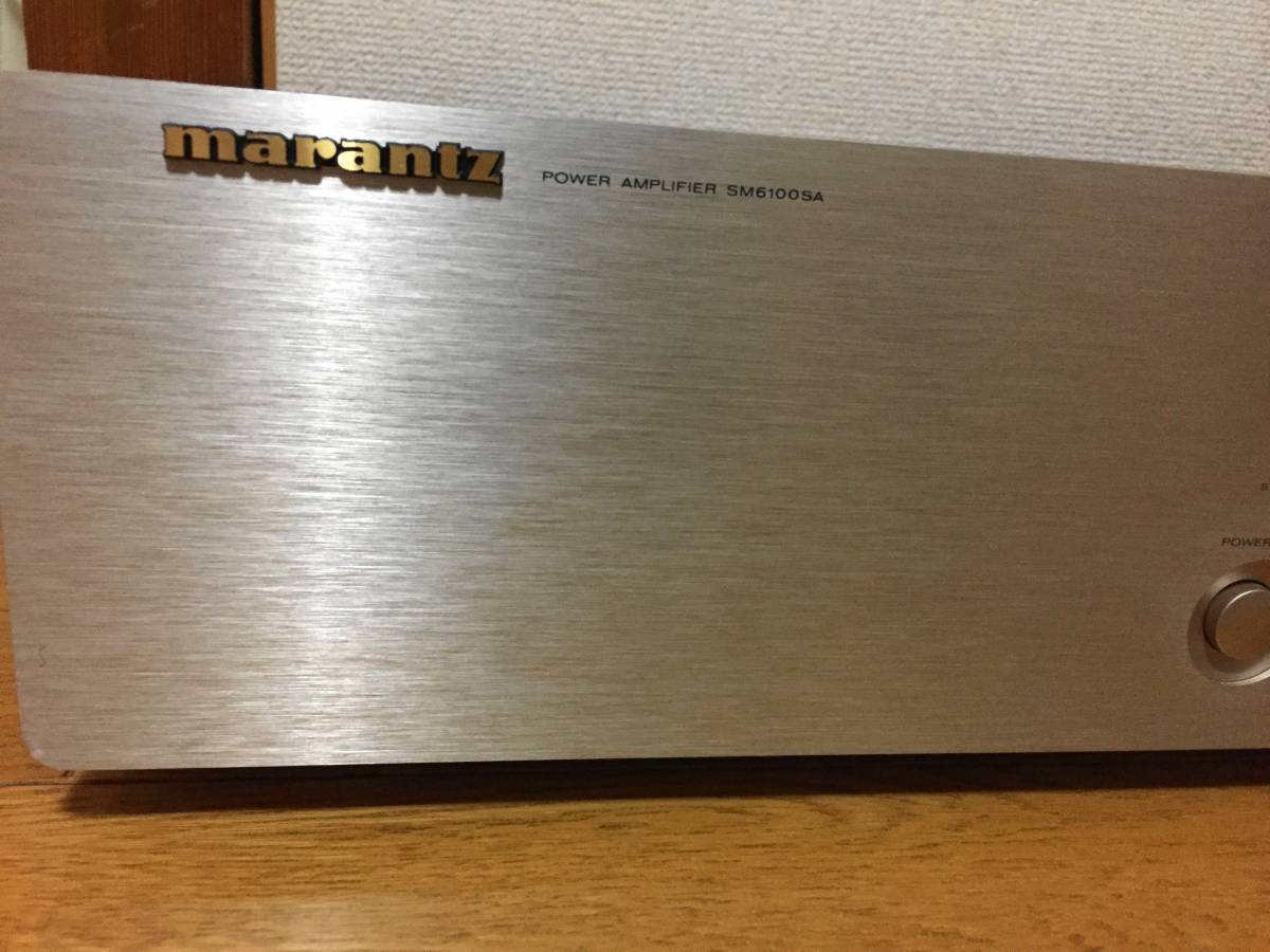 marantz マランツ SM6100SA Ver.2 パワーアンプ 美品ジャンク+おまけ付き_画像5